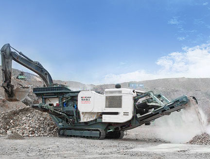 Crawler mobile crusher plant